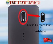 Genuine Glass Nokia 6 2017 Replacement Camera Lens With Adhesive Black OEM Black