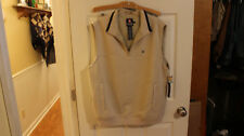 New With Tags Men's Tan Chaps Golf Vest Size Large
