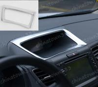 Chrome Dash Navi Panel Cover Trim Frame Molding Fit For Honda CR-V CRV 2012-2016