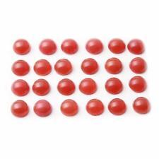 (24) 8mm Czech vintage carnelian red opaline gemstone glass cabochons