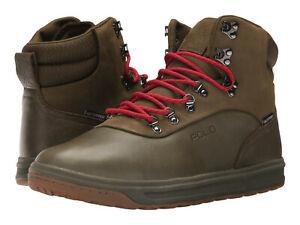 $210 Ralph Lauren Alpine 100-SK Leather Waterproof Authentic  Green Boots