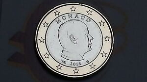 MONACO 1 euro 2018 da rotolino fdc Principe ALBERTO prince albert II Монако