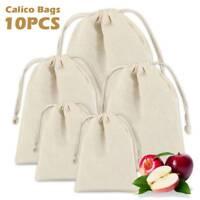 30X Large Cotton Drawstring Storage Bag Toiletry Travel Wash Home Laundry Sack