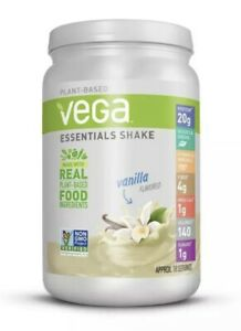 Plant Based Vega Essentials Shake Vanilla 20g Protein 21.9 oz Gluten Free READ
