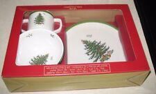 Spode Christmas Tree Melamine Childrens 3 Piece Set NIB