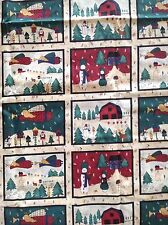 2 Yards CHRISTMAS HOLIDAY Cotton Fabric Angels Snowmen Winter