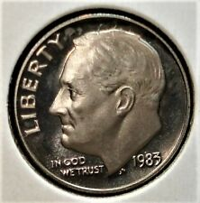 "1983-S Proof No ""S"" Roosevelt Dime - - Very Rare"