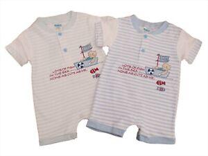 baby boy boys summer ROMPER Striped Navy /& White Blue /& White Caterpillar
