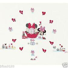 Disney Minnie Mouse Wall Clocks Tick Tock Teller Vinyl Wall Stickers,Home Decor