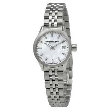Raymond Weil Freelancer White Mother of Pearl Dial Ladies Watch 5626-ST-97021