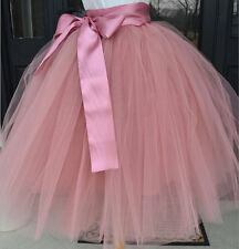 7 Layer Tulle Skirt Womens Vintage Dress 50s Rockabilly Tutu Petticoat Ball Gown