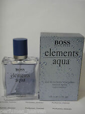 Boss Elements Aqua By Hugo Boss Men Cologne EDT Spray 3.3 3.4 oz 100 ML RARE
