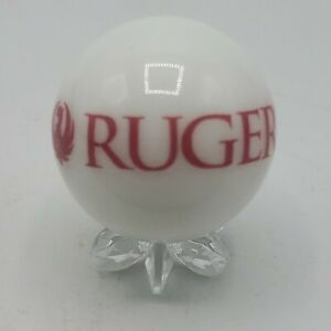 Ruger Gun Pistol Firearm Red Logo White Shooter Marble Collectible