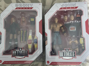WWE Mattel Ultimate Edition John Cena And Becky Lynch NIB Plastic Covers