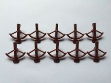 x10 NEW Lego Reddish Brown Minifig, Weapon Crossbow