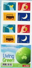2008 AUSTRALIAN STAMP BOOKLET LIVING GREEN (DOUBLE SIDED) 20 x 50c STAMPS MUH