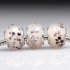 5pcs/10pcs European Murano Glass Beads Lampwork fit Charm Bracelet 14x14x10mm