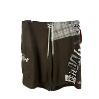 Billabong Mens Swim Shorts Size 38 Board Shorts Brown Drawstring