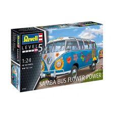 REVELL 07050 - 1/24 VOLKSWAGEN t1 Samba Bus-Flower Power-NUOVO