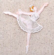 Ballerina/Prima Donna - White Dress - Ballet Iron on Applique/Embroidered Patch