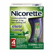 4 Pack - Nicorette Mini Lozenge Mint Stop Smoking Aid, 4 mg, 81 Count Each