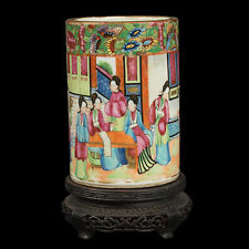 La Chine 19. siècle, a Chinese Canton famille rose porcelain Brush pot-cinese chinois