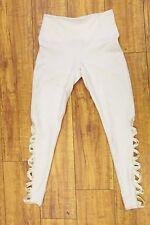 Solow Women's Side Cutout Elastic Long Leggings in White