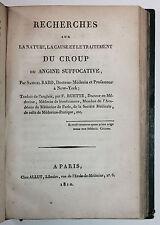 1808-1812 Recueil de Mémoires sur le Croup Médecine Pédiatrie Enfants Maladie