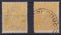 G306) Australia 1916 KGV 4d Lime-yellow ACSC 110D