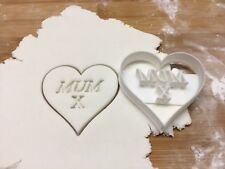 Mothers Day Love Heart Cookie Cutter. Biscuit, Pastry, Fondant Cutter
