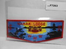 NAHAK LODGE 526 LAKE SCENE RED BORDER F7263