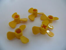 Lego 5 helices jaunes set 8425 8839 2137 6494 / 5 yellow propellers