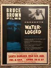 New Vintage Bruce Brown Water-Logged Surfing Promotional Movie Poster 1963