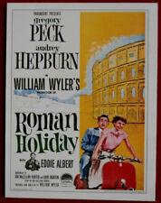 AUDREY HEPBURN - Individual Card # 01 - from Movie Idols Set - ROMAN HOLIDAY