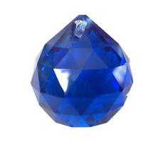 30mm Dark Cobalt Blue Ball Chandelier Crystal for Weddings, Suncatcher