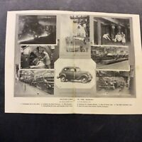 Vintage Book Print - Motor-Cars in the Making - 1936