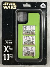 Disney iPhone XS 11 Pro MAX Star Wars Baby Yoda Mandalorian Protect Attack Snack