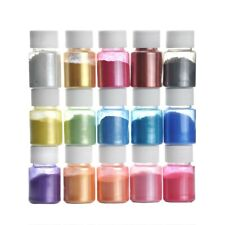 15 Bottle Pearlescent powder Epoxy Resin Dye Pigment Natural Mica Mineral Powder