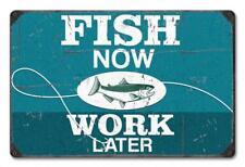 BASS FISHING Hunter Metal Sign Man Cave Garage Body Shop Cabin Barn Shed Lodge 1