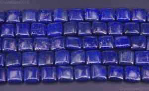 """Natural Lapis Lazuli Gemstone Square Spacer Beads 12mm 14mm 16mm 18mm 20mm 15.5"""""""