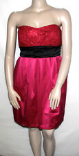 NEW Ruby Rox Strapless Sequin Empirewaist with Tie Party Dress 20/FUSCHIA