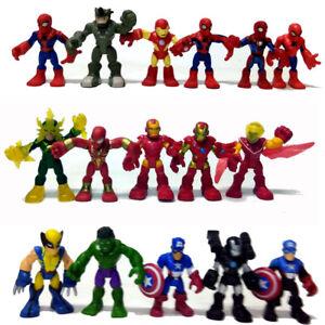 PlaySkool Marvel Super Hero Adventures Hawkeye Loki Vision Hulk 2.5'' figure toy