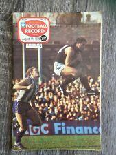 1978 VFL AFL football record Melbourne Demons V Hawthorne Hawks August 11