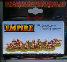 Demonworld Empire Mammoth Hunters (17) MINT 15mm Lead minatures