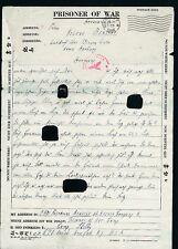 K2421) Kriegsgefangenenpost USA Camp Shelby Michigan 3.6.44 > Winsen Luhe