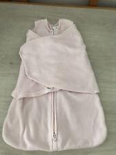 Halo Pink Fleece Sleepsack Swaddle Sleep Snuggler Wearable Blanket Age Newborn