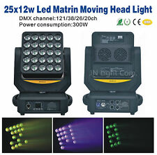 1PC Magic Matrix 25X12w LED Wash Moving Head Light/DMX/Bar KTV DJ Disco Light