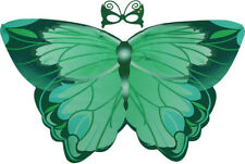 Green Butterfly Wings Child's Cape & Mask, Summer Fun, Dress Up, Role Play.