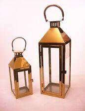 new stock copper Lanterns steel set 2 INDOOR/OUTDOOR weddings gift idea
