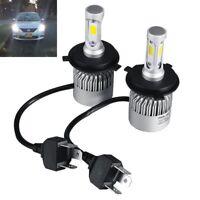 2PCS H4 HI-LO COB LED Auto Headlight Scheinwerfer Licht Nachrüstsatz Kit 6500K
